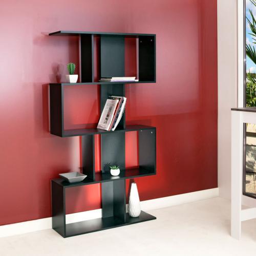 meuble bibliotheque generique etagere deco noir