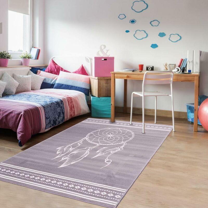 unamourdetapis un amour de tapis tapis chambre enfant moderne design tapis chambre bebe fille garcon ado tapis gris 140x200 cm
