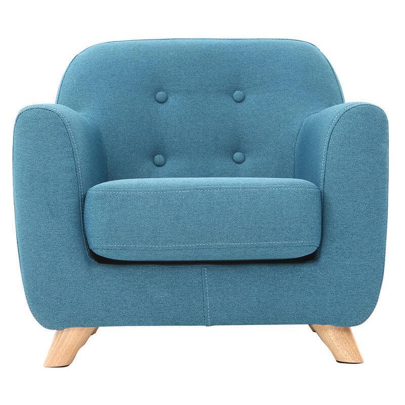 fauteuil enfant scandinave norkid bleu canard miliboo