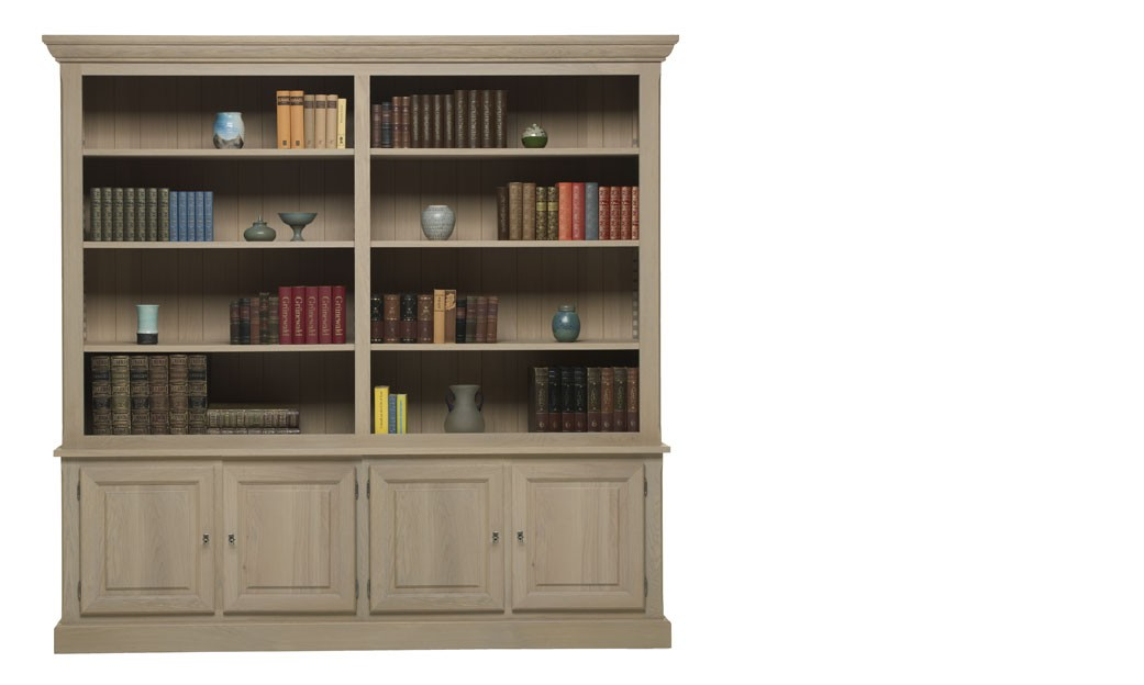 meuble bibliotheque contemporaine en chene massif holmes