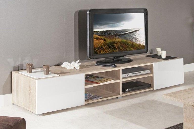 atlantic meuble tv structure chene