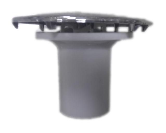 capot 120mm laiton chrome avec tube garde d eau pour bonde diametre 90mm