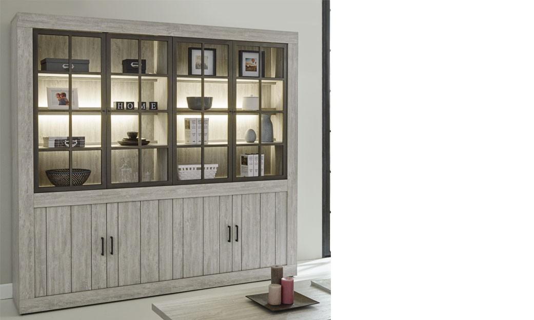 meuble bibliotheque contemporaine couleur bois clair fergus