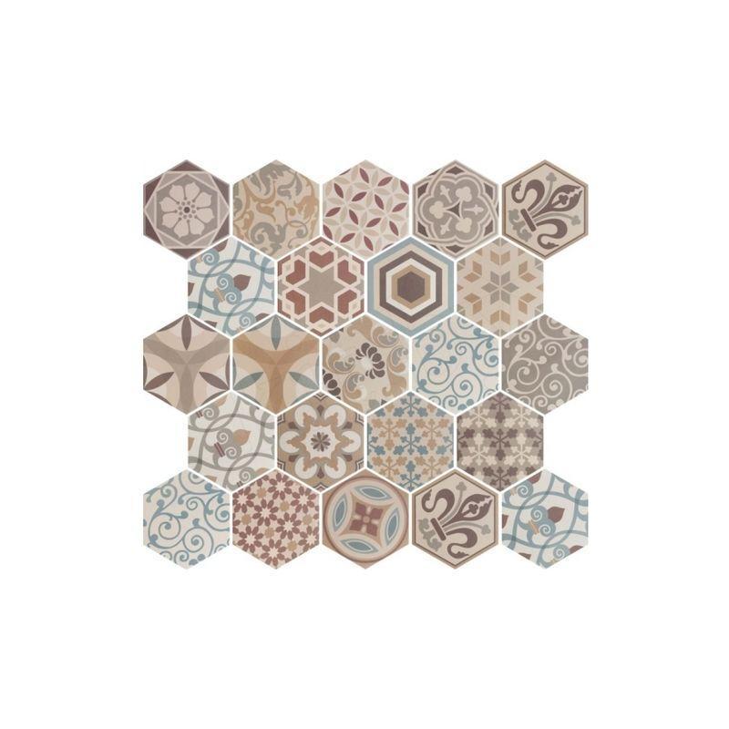 carrelage hexagonal 17 5x20 tomette harmony b w 0 71m equipe