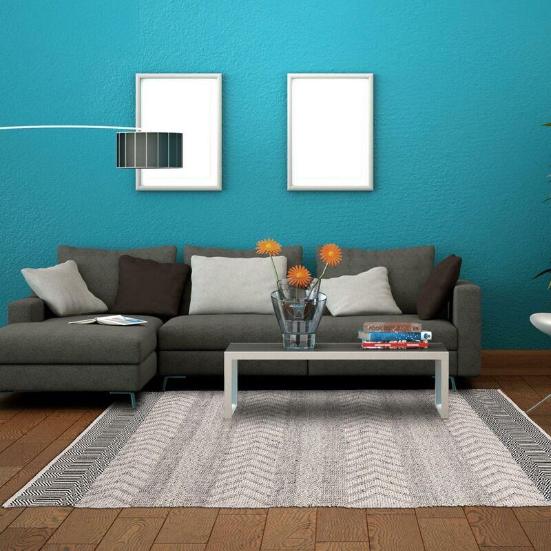 unamourdetapis tapis design et moderne 120x170 cm rectangulaire tendancia gris salon tisse a la main coton