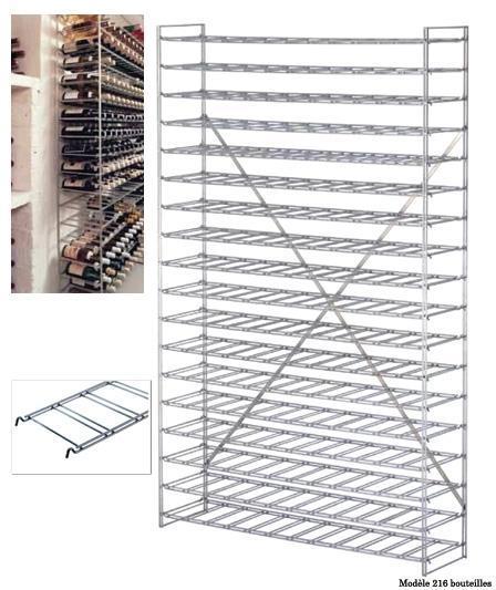 casier a vin metal 180 bouteilles haut 1900mm