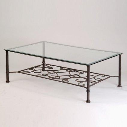 table basse en fer forge carree ou rectangulaire