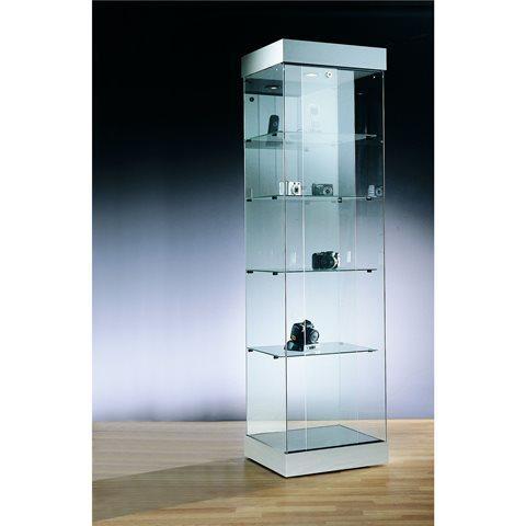 vitrine en verre deco colonne