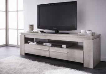 meuble tv contemporain chene champagne guerda