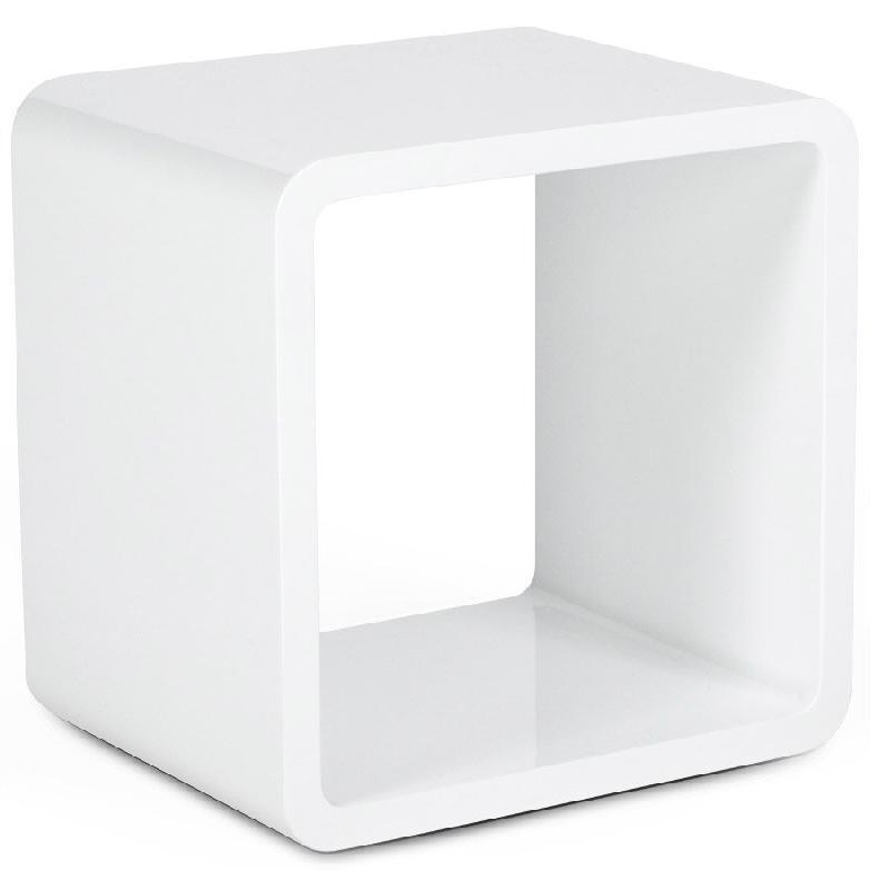 cube de rangement kubic blanc empilable