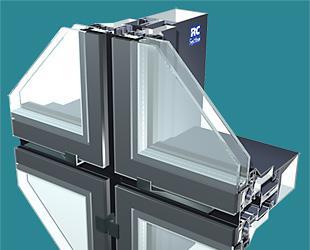 profiles en aluminium pour mur rideau elegance 52 sg vec vep