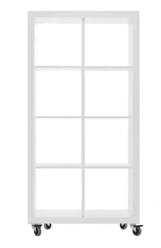 etagere sur roulettes h172 x l86 cm blanc