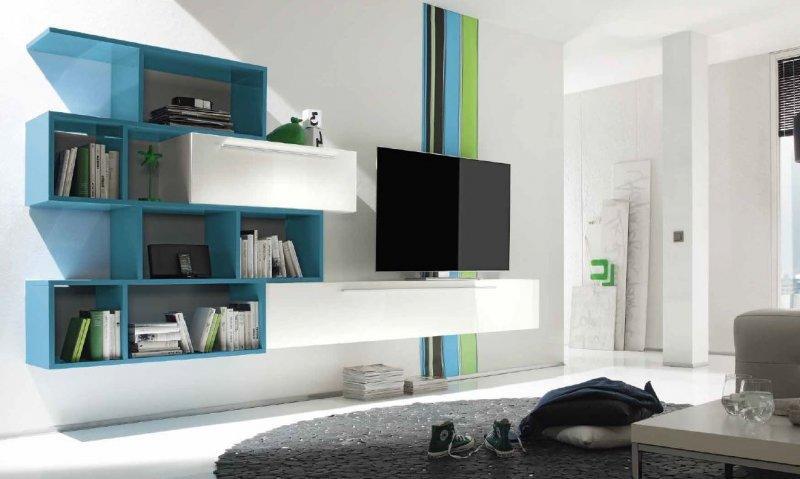 meuble tv design primera shelf blanc