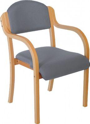 chaise empilable devon avec accoudoirs pietement bois gris