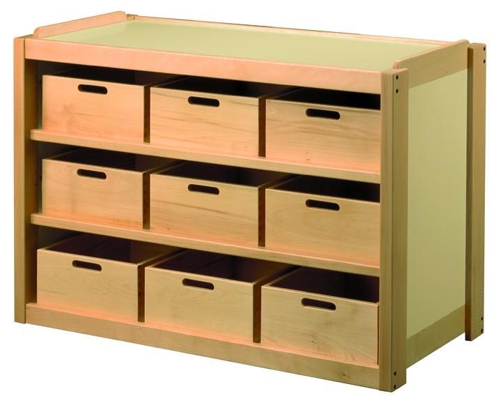 meuble 9 casiers bois