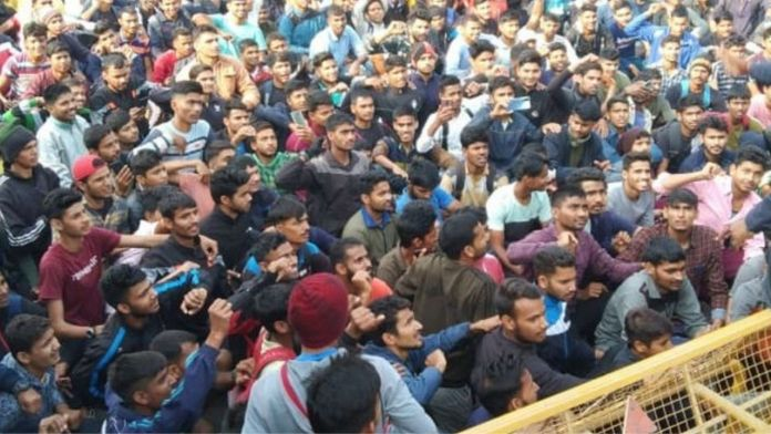 Indian Army Recruitment; Youths Rally, Laxman Temple,