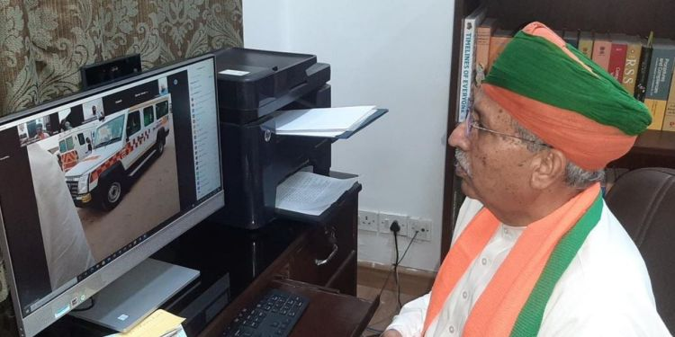 Arjun Ram Meghwal, Union Minister, Bikaner News, CoronaVirus, Ambulance in Khajuwala, Bikaner Division, Khajuwala Ambulance,