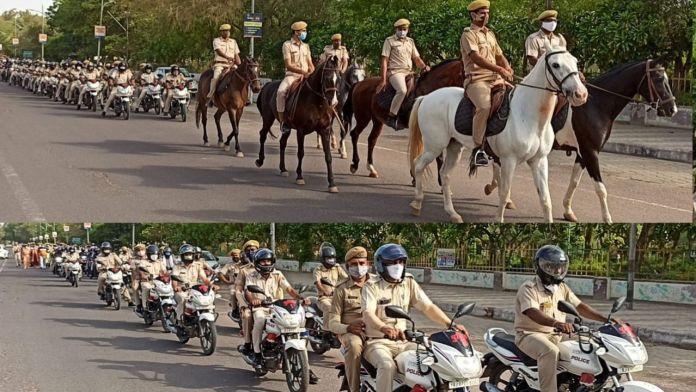 Bikaner latest news, Bikaner news, Biakner news hindi, Flag Marc , Bikaner Flag Marc , Bikaner Police, Today Corona Update, Bikaner today corona update, Jan Anusashan Week,