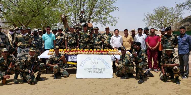 Bikaner News, BSF News, Indo-Pak border, BSF seized 300 crore worth of narcotics, Khajuwala Border News, BSF, India Pakistan border, drug bust