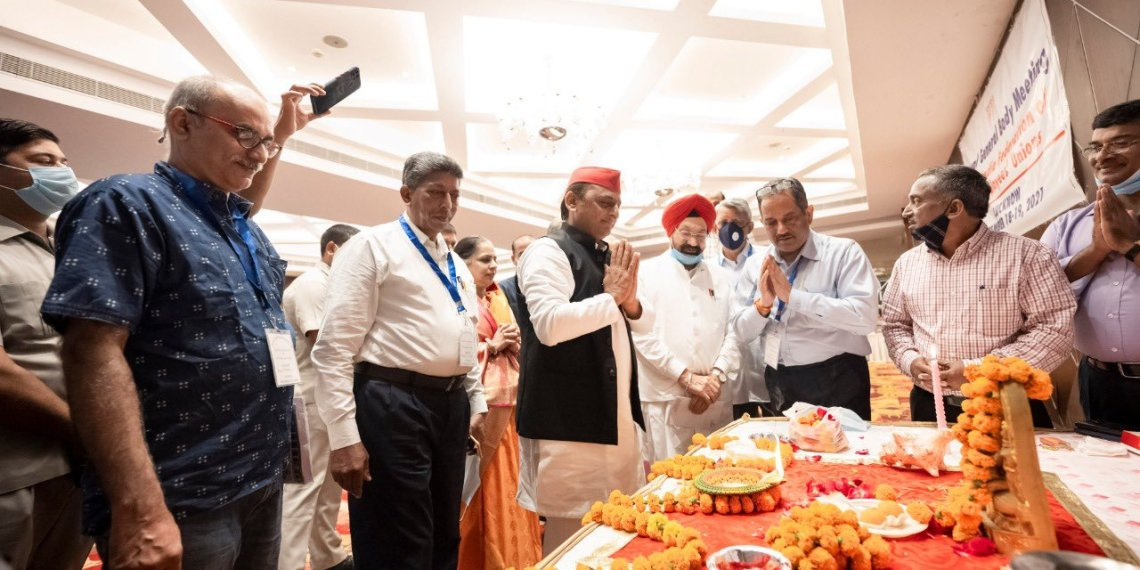UP Ex.CM Akhilesh Yadav Address PTI Annual General Body Meeting, Lucknow, Uttarpradesh Samajwadi Party, Samajwadi Party chief Akhilesh Yadav , PTI News Agency, Hotel Lineage, Hotel in Lucknow, All-India Federation of PTI Employees Union, UP Assembly polls, Akhilesh Yadav, Uttar Pradesh, road to Delhi passes through Uttar Pradesh, UP politics, politics Uttar pradesh, PTI Annual General Body Meeting,