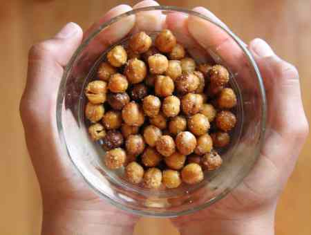 garlic roasted chickpeas