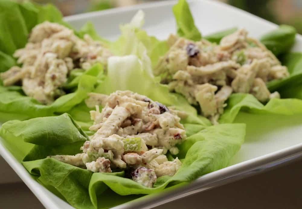 Healthy Chicken Salad Lettuce Wraps