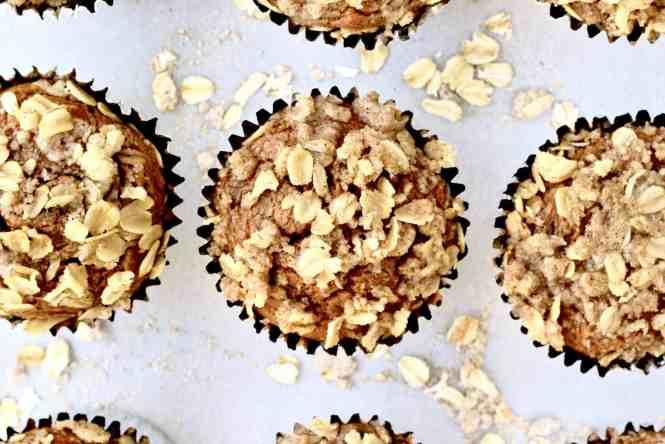 Healthy Pumpkin Chocolate Chip Oatmeal Muffins