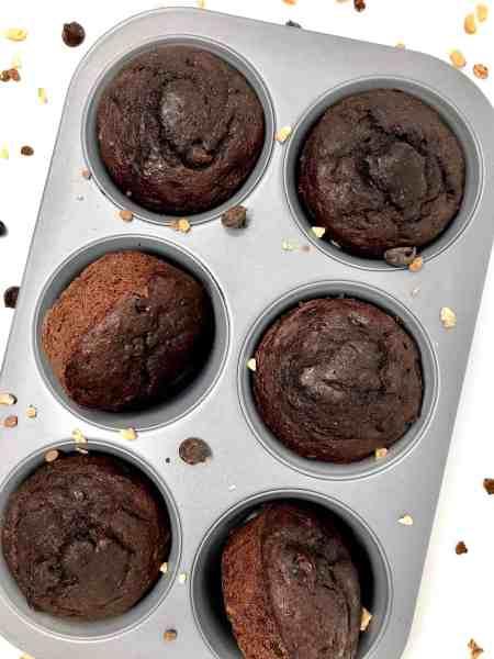 Healthy Banana Chocolate Chip Muffins - Easy Recipe