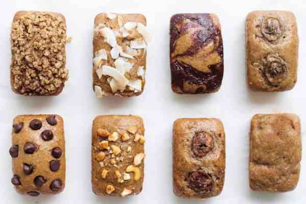 Dairy free banana bread 7 ways
