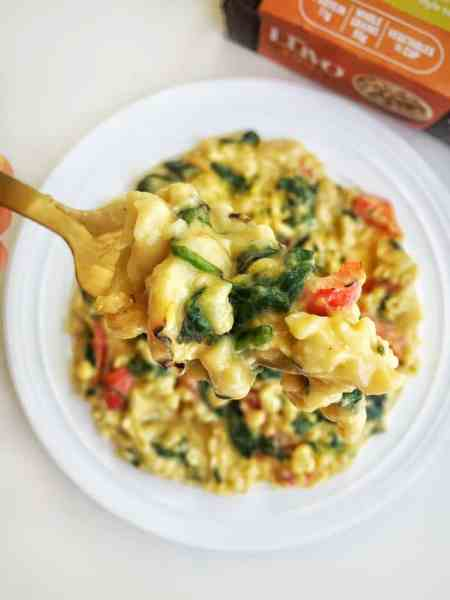 Creamy five minute cauliflower mac and cheese