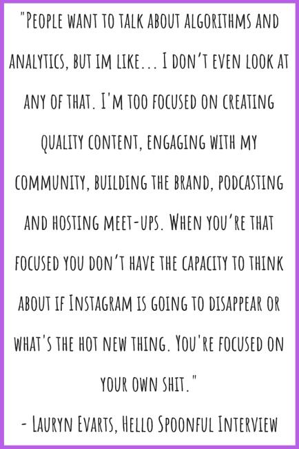 Lauryn Evarts interview Hello Spoonful