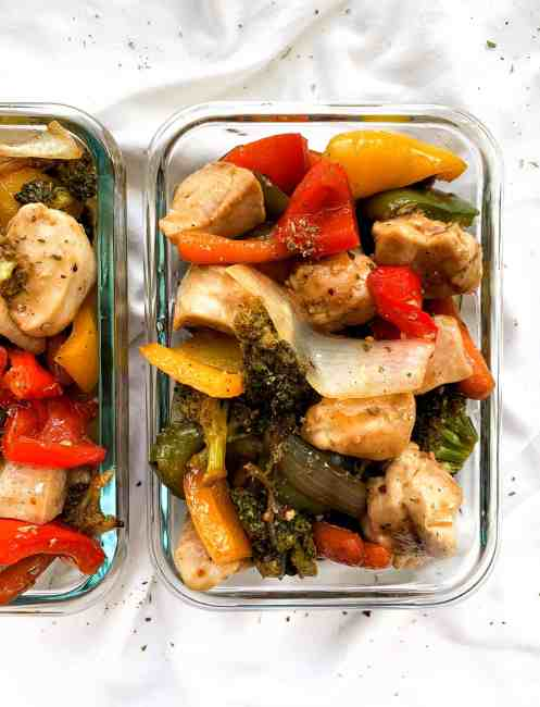 Sheet Pan Honey Garlic Chicken and Veggies | Easy and Healthy Dinner Idea