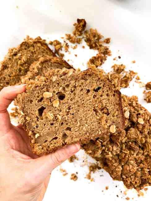 Healthy Cinnamon Crunch Banana Bread