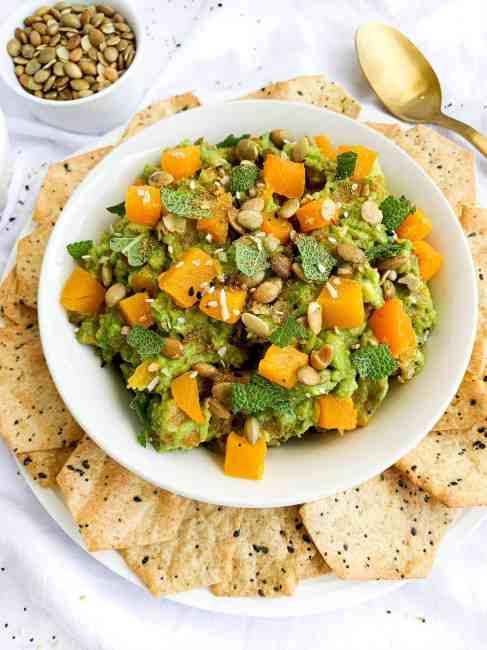 Butternut Squash Guacamole Healthy Fall Appetizer
