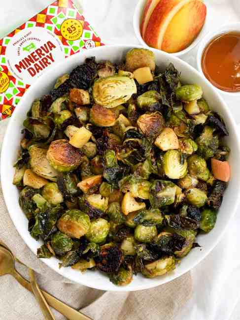 Honey Roasted Brussel Sprouts with Apple