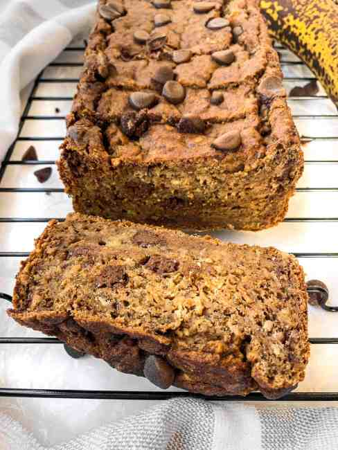 No Added Sugar Banana Bread that is dairy-free, oil-free, and healthy