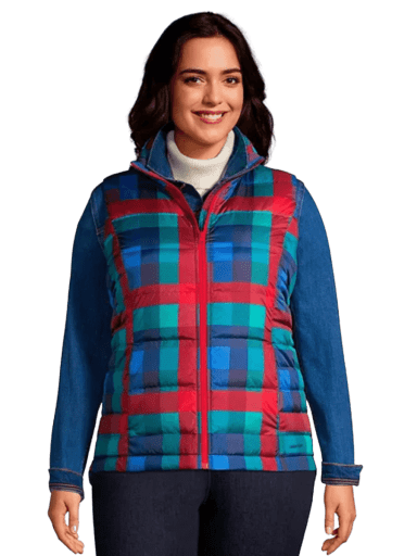 Winter Down Puffer Vest by Lands' End | 1X-3X