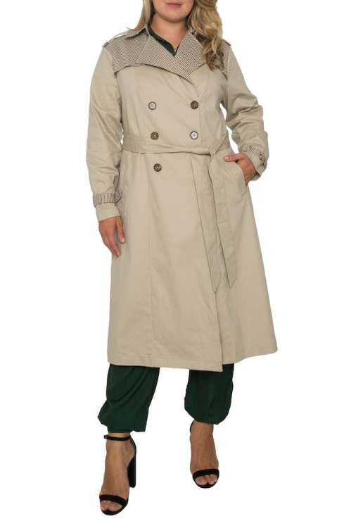 Standards & Practices detail stretch cotton trench