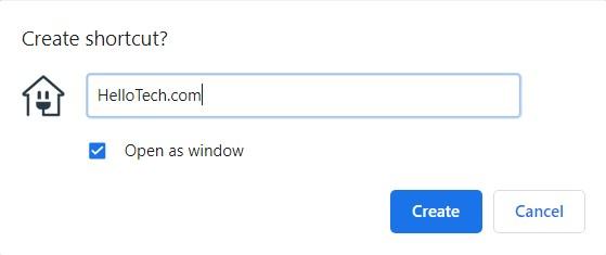 How to create a desktop shortcut for a website Using Chrome