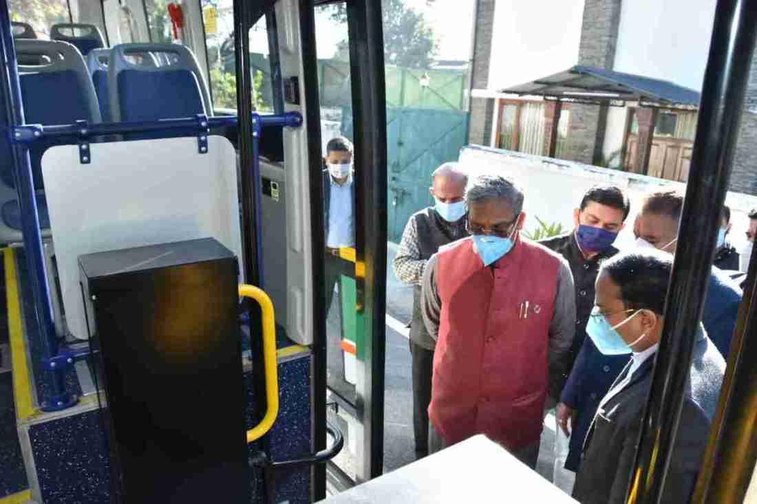 देहरादून शहर में इलेक्ट्रिक बस का हुए ट्रायल रन, देहरादून स्मार्ट सिटी लिमिटेड का फ़िलहाल 30 बसें चलाने का प्रयास 2