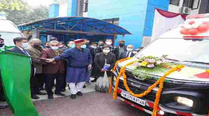 मुख्यमंत्री ने गांधी शताब्दि चिकित्सालय में 132 नई एम्बुलेंस का किया फ्लैग ऑफ़ 1