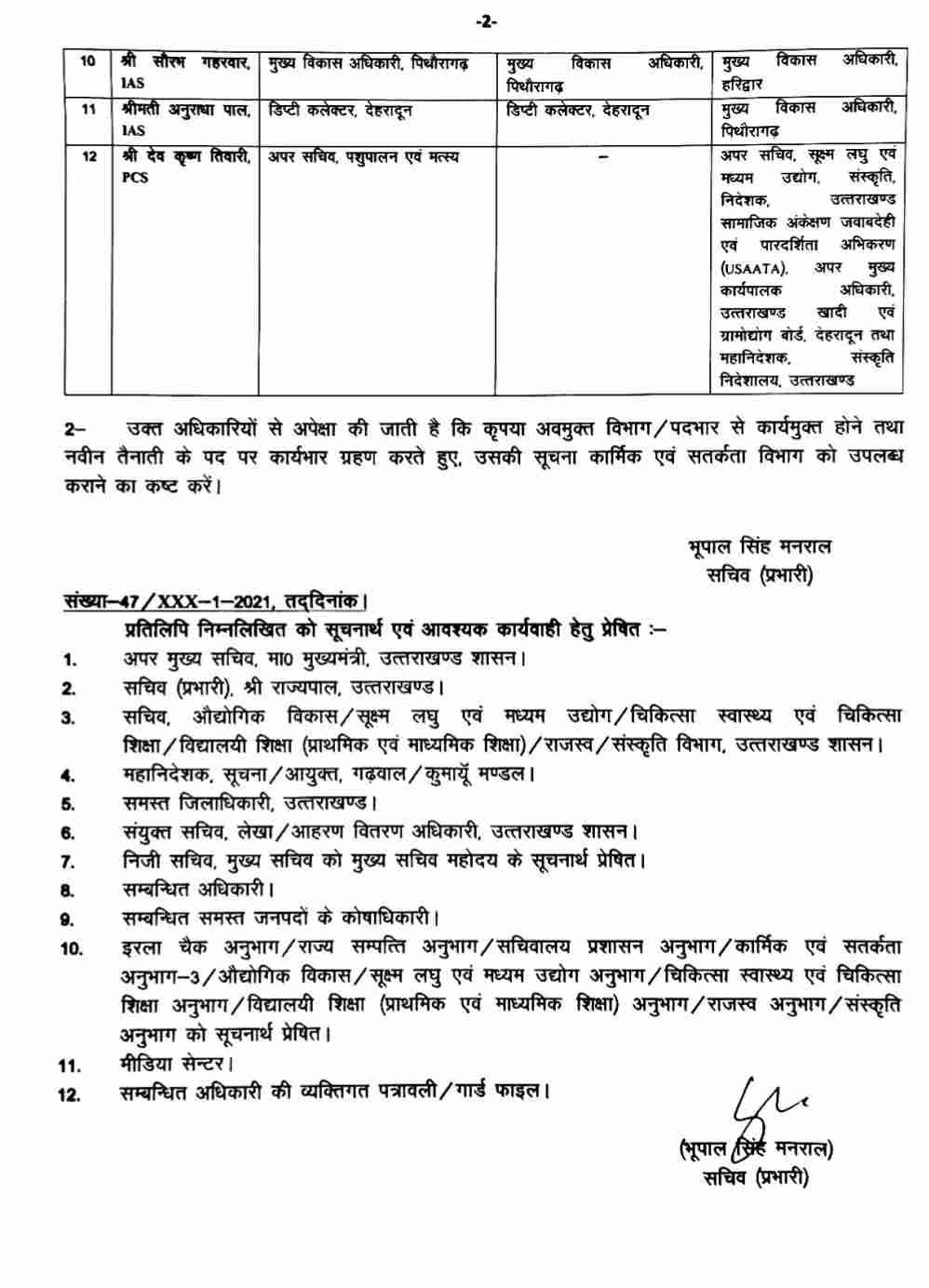 प्रदेश में IAS व PCS अधिकारियों में बम्पर फेरबदल, जिलाधिकारियों में भी बंपर फेरबदल 3