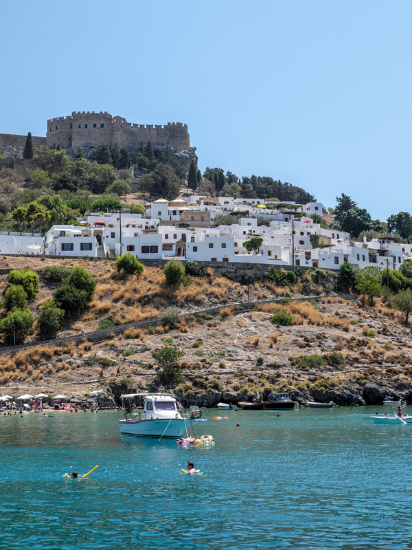 The hillside town of Lindos, Rhodes | Hello Victoria