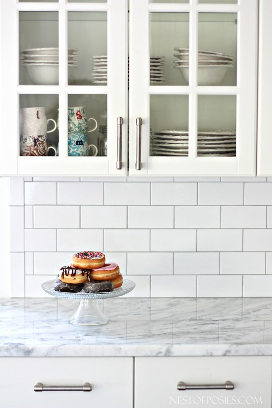 White subway tile with grey grout inspiration | Hello Victoria