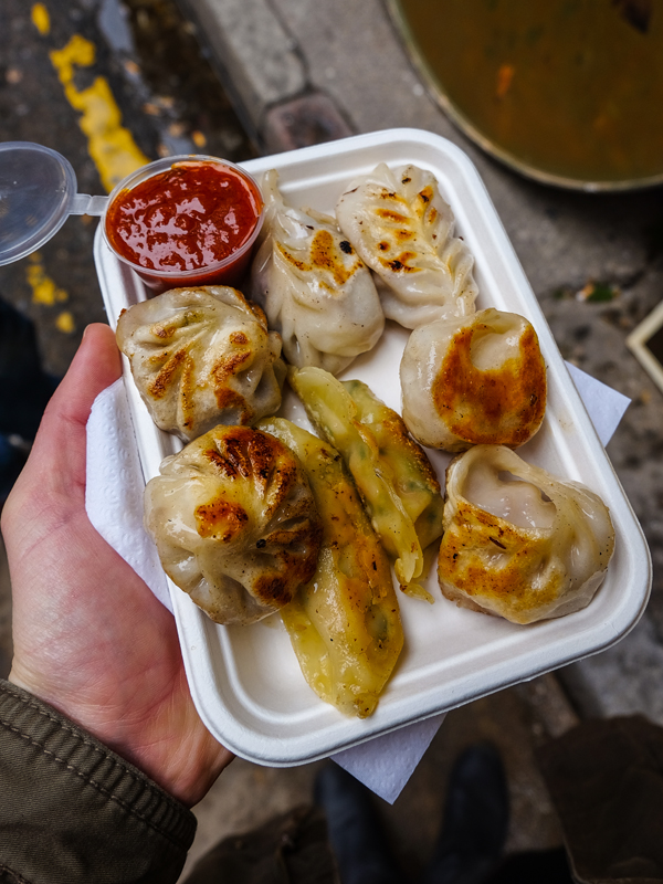 Momos at the Brick Lane market | Hello Victoria