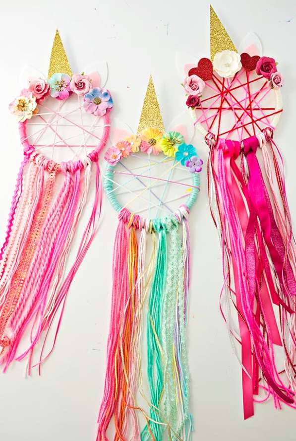 Unicorn party ideas, unicorn dream catcher