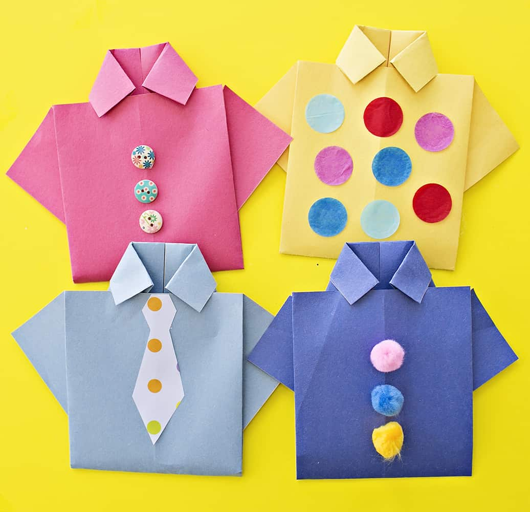 Easy Origami Shirt Father S Day Card
