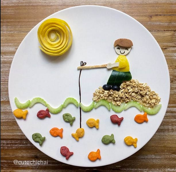 ADORABLE FOOD ART FOR KIDS FROM CUTE CHICHAI