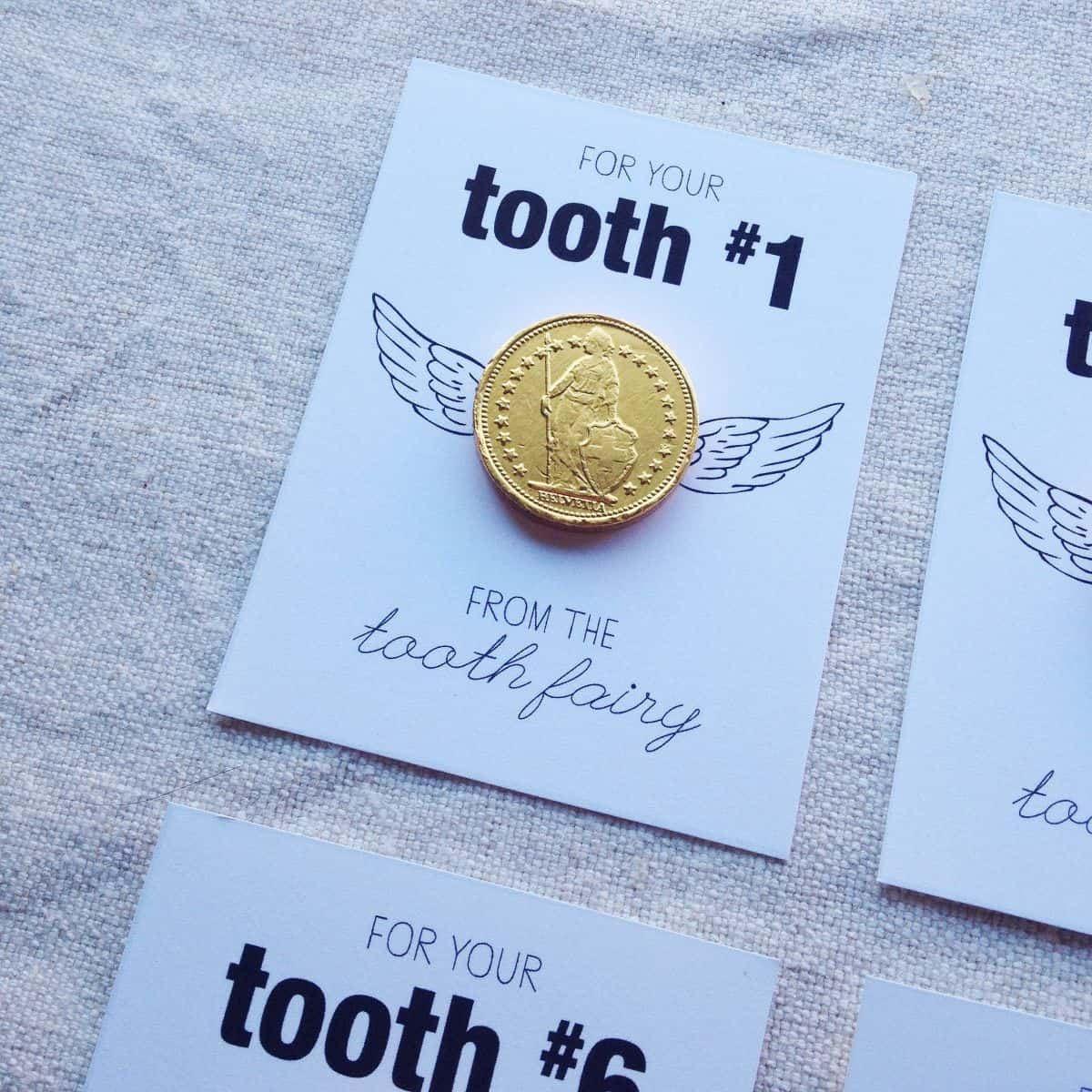 Gold Coin Tooth Fairy Free Printable