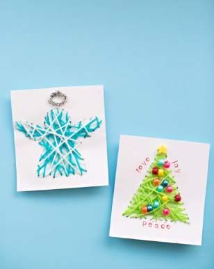 Cartes de vœux en fil
